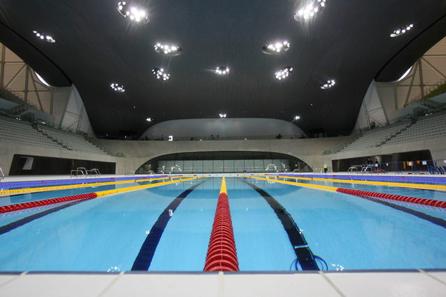 Swimmers will have to negotiate the fearsome 'bendy water' feature
