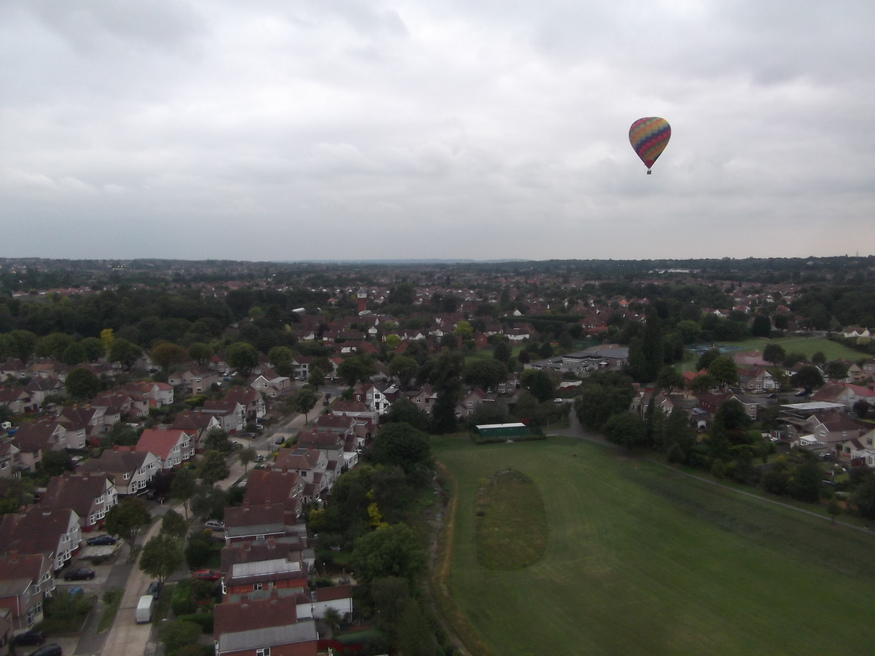 Another balloon, out over Sidcup.