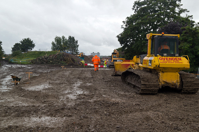 Bridgehouse Meadows, which will be restored after work on the new line is completed.