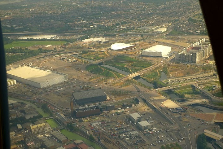 Wide shot of the Olympic park.