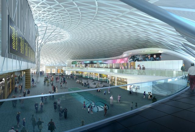 The new western concourse