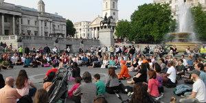 Meditation Flashmob: Tomorrow, Trafalgar Square
