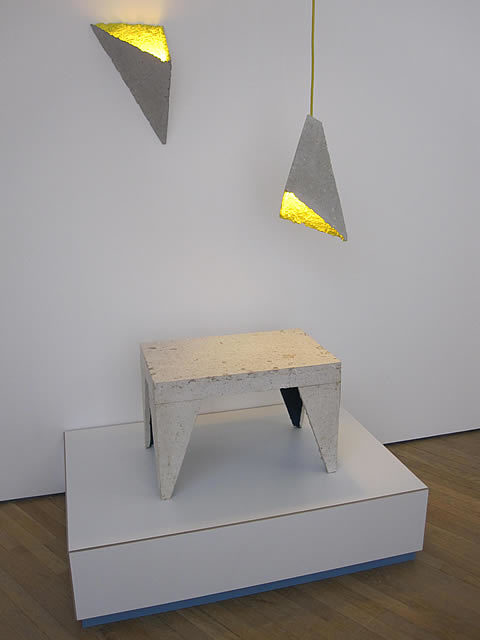 More lamps, this time from Will Shannon, made of chipboard, that, in turn, is made from old furniture