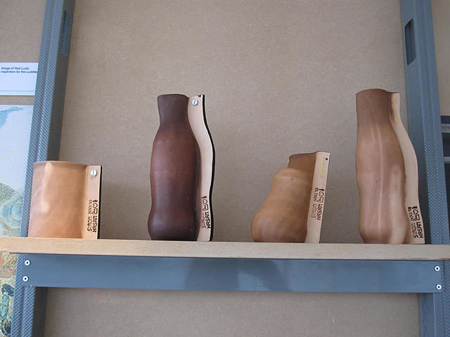 Look out for these lovely leather bottles(?), which are rather hidden on a shelf in the museum