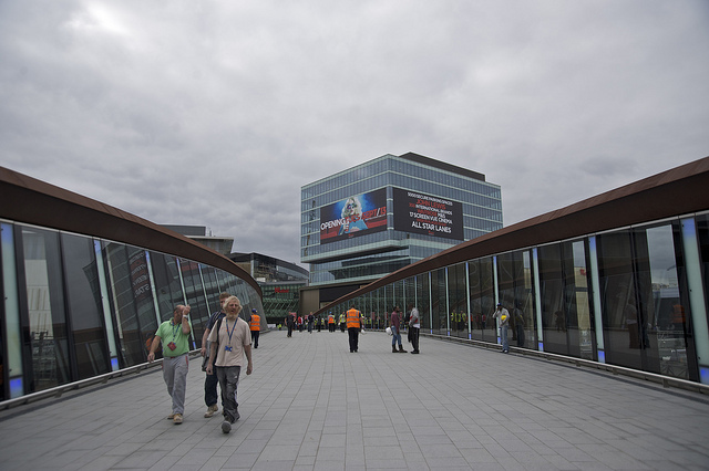 The giant bridge connecting Stratford proper to Westfield.
