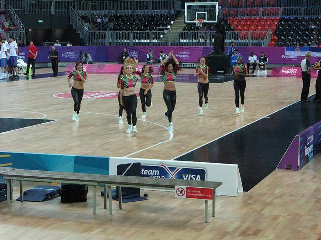 The lacklustre cheerleaders. Photo / Duncan Young