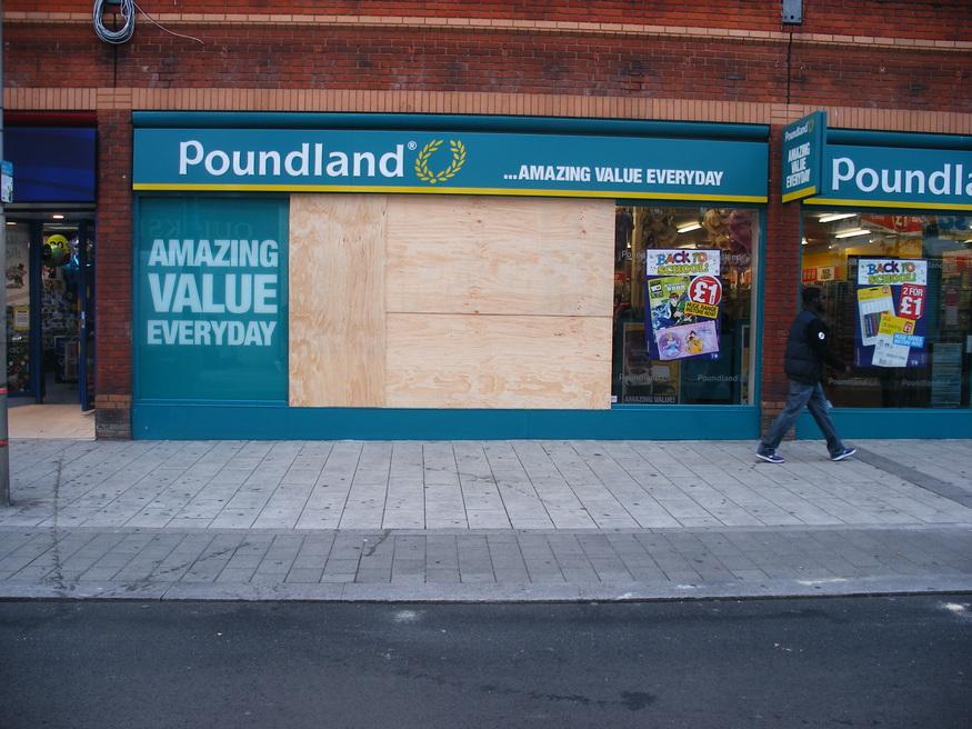 Poundland, for fuck's sake