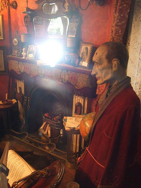 Sherlock Holmes, as portrayed by Vladimir Putin...upstairs at the Sherlock Holmes pub. Image by M@.
