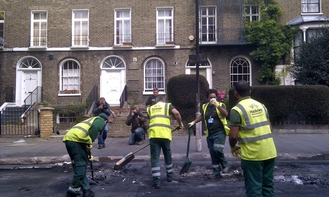 Council workers had been out since 3am in Hackney by Martin Deutsch