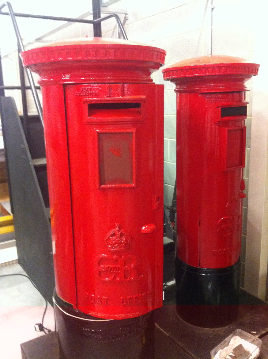 A couple of rare Edward VIII post boxes.