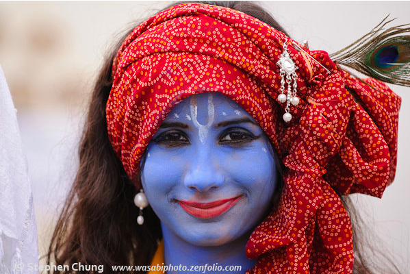 Krishna girl in the red scarf