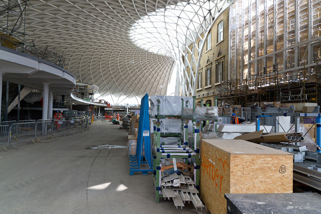 The concourse, looking north