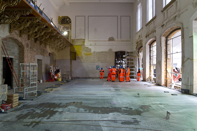 The new ticket hall, actually a re-opening of the station's original 'pay office', which closed in 1973..