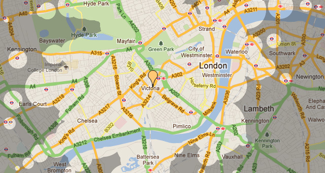 Interactive map shows travel times from your location londonist dean nicholas interactive map shows travel times from your location gumiabroncs Choice Image