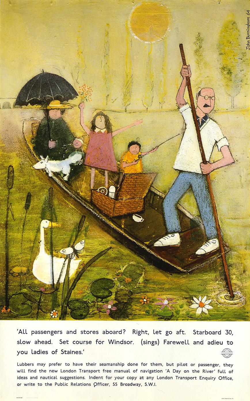 A day on the river, by John Burningham, 1965