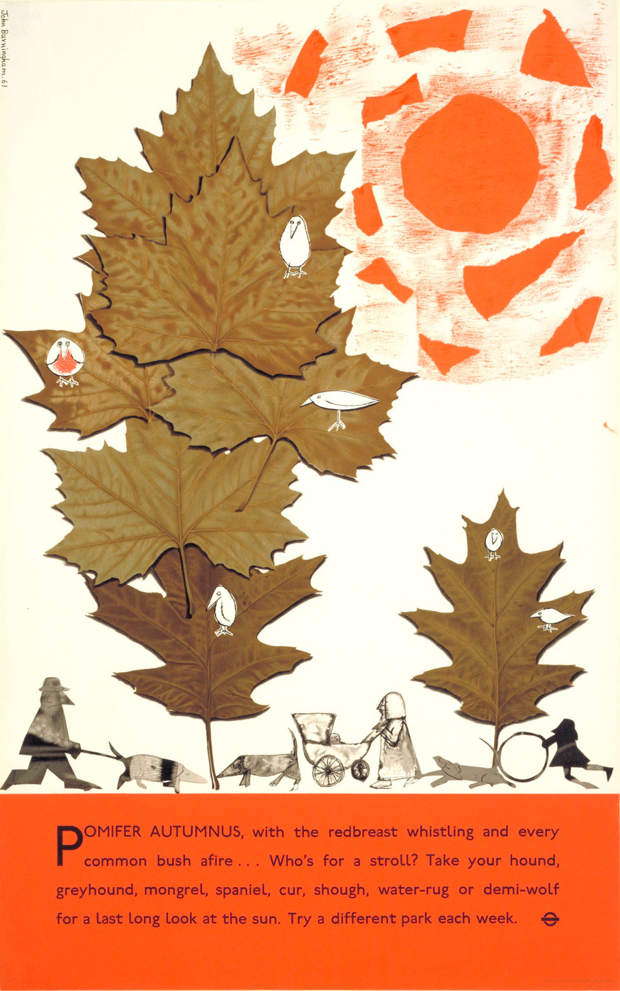 London parks, autumn leaves, by John Burningham, 1961