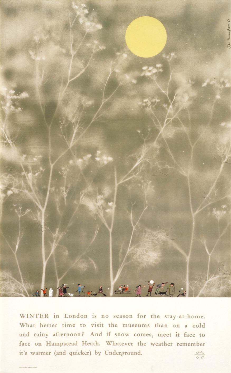 Winter in London, by John Burningham, 1965