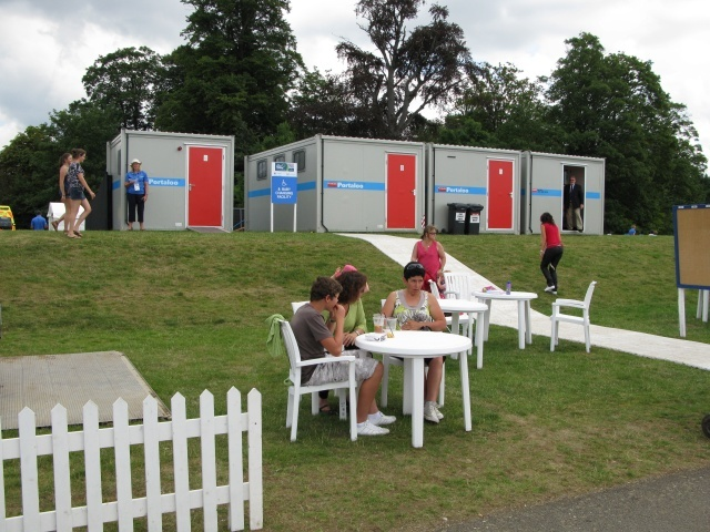 Not many bathroom facilities on offer, but plenty for the demand on the day. Sadly, no taps to fill water bottles though