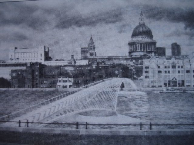 Millennium Bridge designed by Santiago Calatrava