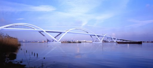 One of the designs for the Thames Gateway bridge