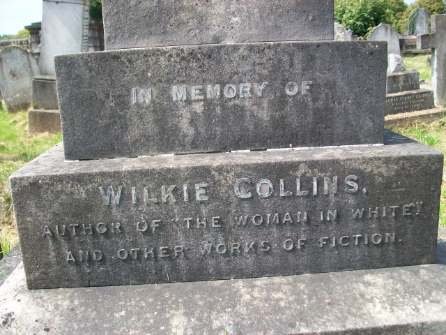 Wilkie Collins's tombstone in Kensal Green Cemetary / photo by Ian Mole