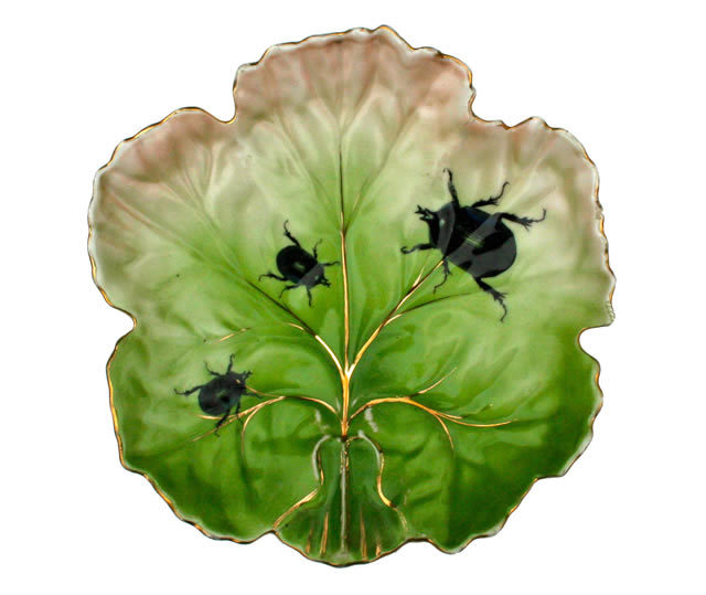 Vintage Green Leaf Plate by Lou Rota