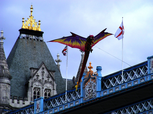 Tower Bridge dragon by surreydweller