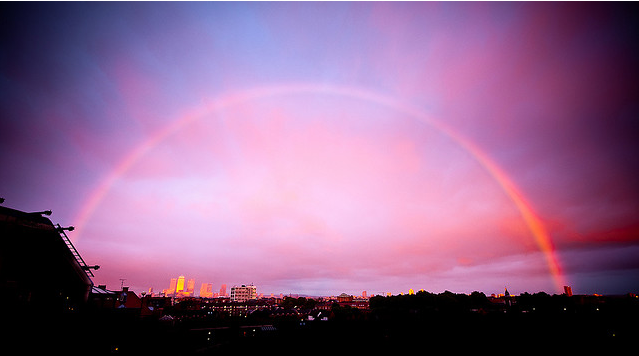 A sunset rainbow by beechlights.