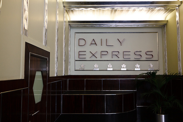 The art-deco lobby of 120 Fleet Street, home of the Daily Express by Liam Davies.