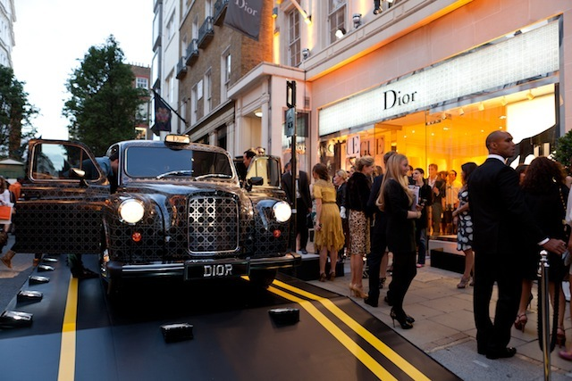 The Dior photo booth cab
