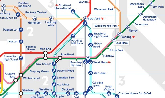 The extension on the Tube map