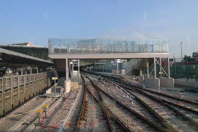 Northwards into Stratford station