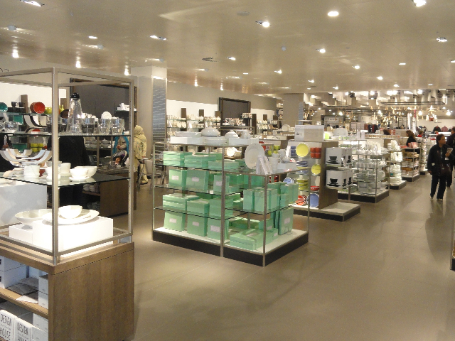 The empty acreage of John Lewis's china department.
