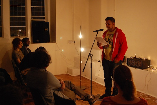 Nikesh Shukla read a brilliant story from his third person diary: Peaches and Cream