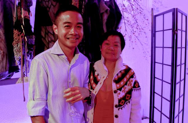 Armando Santos and his mum.