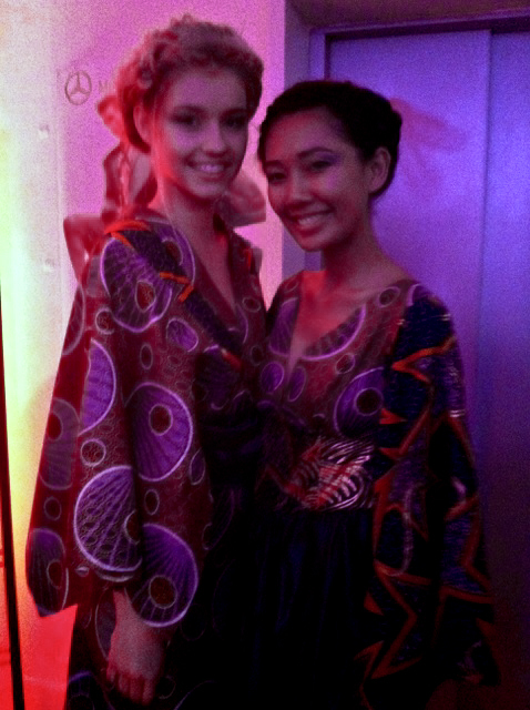 """The kimonos were designed by Ohema Ohene (""""African sophistication with a British twist"""")."""