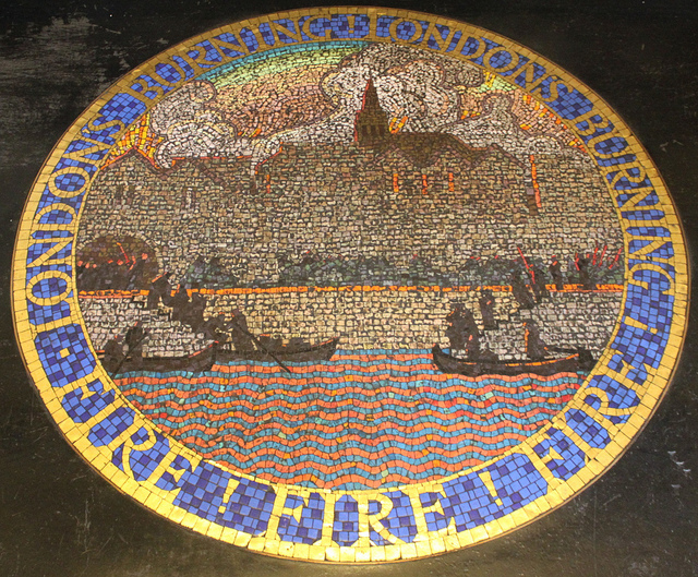 Mosaic at the London Fire Brigade HQ, Albert Embankment by curry15