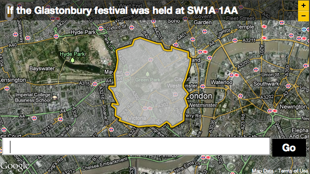Shifting Glastonbury to Green Park might create a few logistical problems.