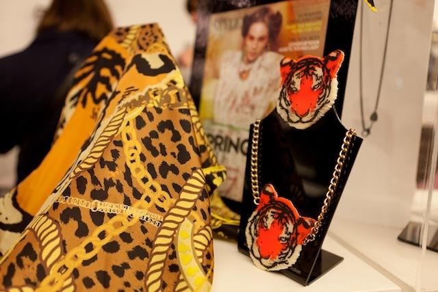 Tatty Devine tiger scarf launch