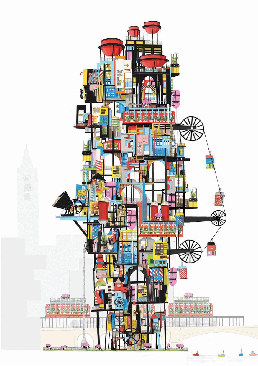 The London Farmhouse Tower by Catrina Stewart (c) Catrina Stewart.