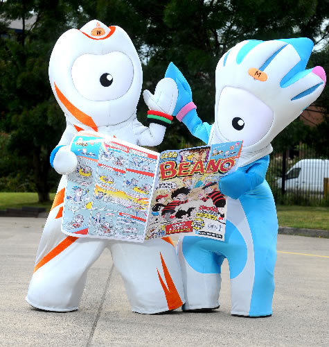 Olympic Mascots Have Adventures In The Beano