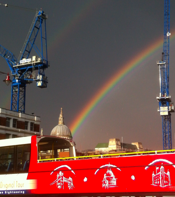 A very Londony rainbow by World of Good.