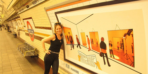 Art Below at Regent's Park Tube Station