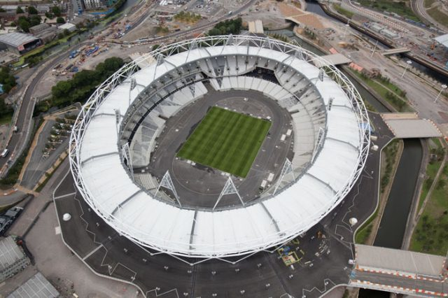 Olympic Stadium in July 2011; photo by Anthony Charlton.