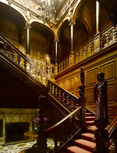 The staircase at Two Temple Place from below. Copyright Will Pryce
