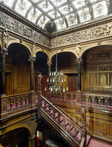 The Staircase and Gallery at Two Temple Place. Photo copyright Will Pryce