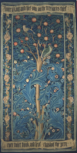 William Morris, Woodpecker tapestry, 1885. Made by Morris & Co. Copyright William Morris Gallery, London