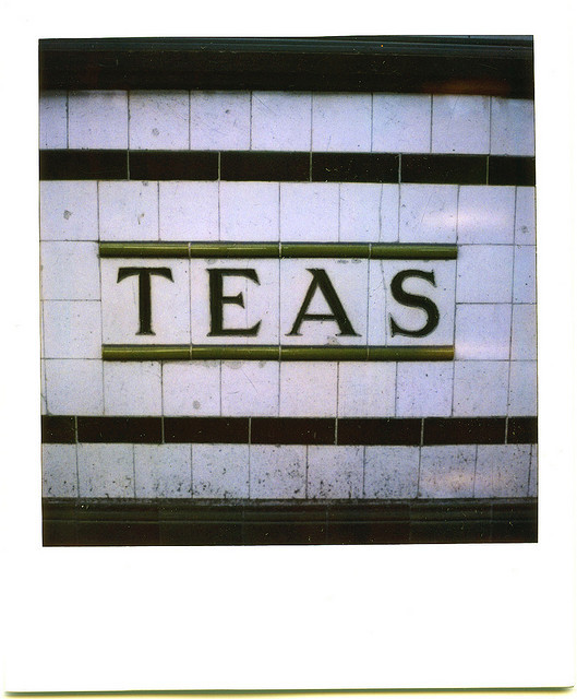 Teas still in the tiles off the former cafe on Pentonville Road (now a pizza joint) by dusty sevens