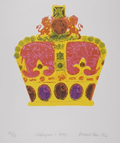 Bernard Cheese – Shakespeare's Kings, Lithograph, 1964. © Bernard Cheese/Royal College of Art