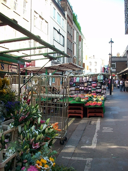 Berwick Street Market, where Bolan's mother used to work / photo by Ian Mole